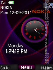 Nokia Dual Clock 05 theme screenshot