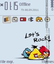 Capture d'écran Lets Rock - Angry Birds thème