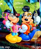 Pure Love Mickey Mouse theme screenshot