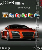 Red Audi Car Theme-Screenshot