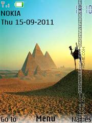 Egypt-Pyramid es el tema de pantalla