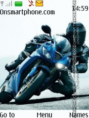 Blue moto theme screenshot