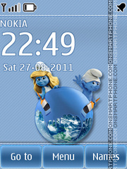Smurf theme screenshot