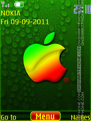 Green apple es el tema de pantalla