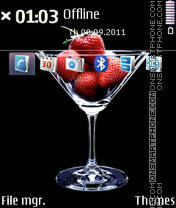Strawberry Cocktail 01 tema screenshot