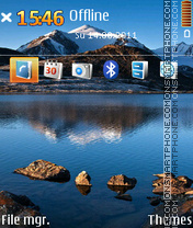 Nature 5800 tema screenshot