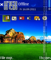 Blue Green 01 theme screenshot