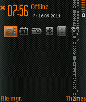 Carbone Orange theme screenshot