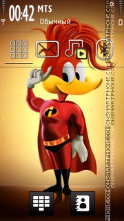 Woody Woodpecker 01 theme screenshot