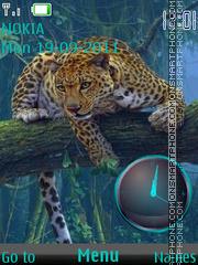 Cheetah Clock theme screenshot