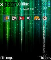 Colorful Matrix theme screenshot