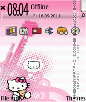 Cute Kitty 05 theme screenshot