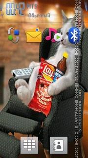 Скриншот темы Cat Enjoying