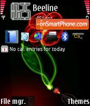Скриншот темы Neon Flower
