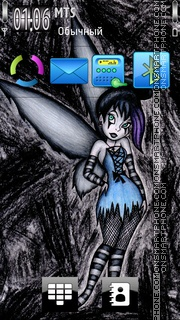 Gothic Tinker Bell theme screenshot