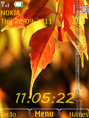 Autumn leaves Theme-Screenshot
