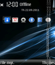 Blue Aerials V2 By Xavier theme screenshot