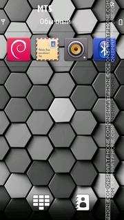 Hexagons - N8 theme screenshot