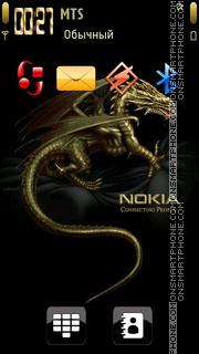 Скриншот темы Nokia Dragon 01