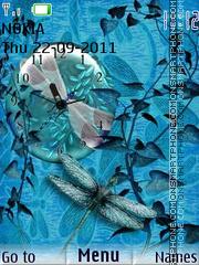 Blue Dragonfly theme screenshot