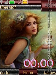 Fantasy girl swf theme screenshot