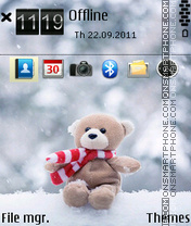 Cute teddy 04 tema screenshot