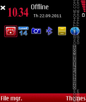 Red Black Express theme screenshot