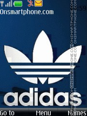 Adidas Blue tema screenshot
