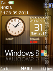 Windows 8 and Clock Theme-Screenshot