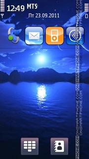 Blue Night 04 theme screenshot