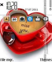 Скриншот темы I Miss You 16