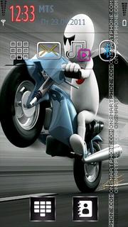 Zoozoo on Bike theme screenshot