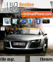 Audi by rdc v12 theme screenshot