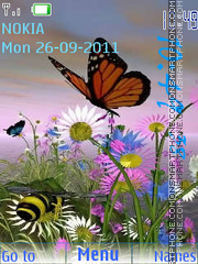 Butterfly and bee theme screenshot