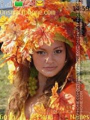 Fall girl theme screenshot