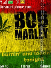 Bob Marley 12 theme screenshot