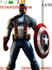 Captain America 09 theme screenshot