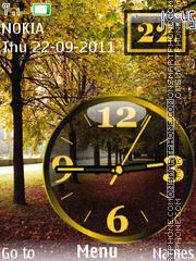 Nature Dual Clock 02 theme screenshot