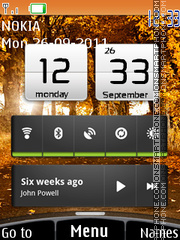 Xperia Android theme screenshot