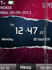 Paper Clock theme screenshot