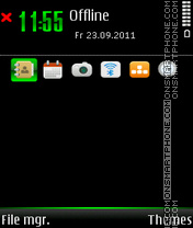 Green and Black theme screenshot