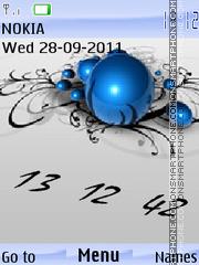 Animated clock theme screenshot
