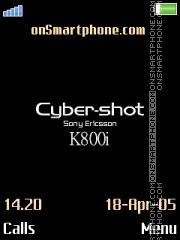 Cyber-shot K800i tema screenshot