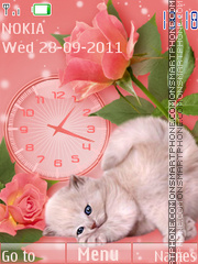 Kitten and Clock theme screenshot