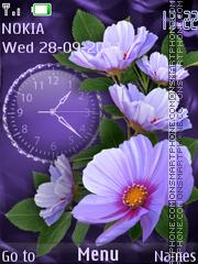 Violet flowers theme screenshot