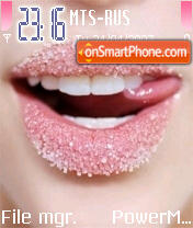 Sugar Pink Lips theme screenshot