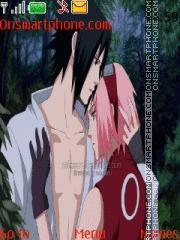 Скриншот темы Sakura X Sasuke Shippuden