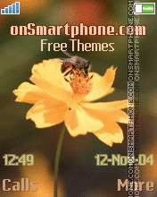 Bee on the flower theme screenshot