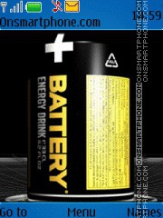 Battery energy drink theme screenshot