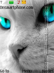 Скриншот темы Snow kitty